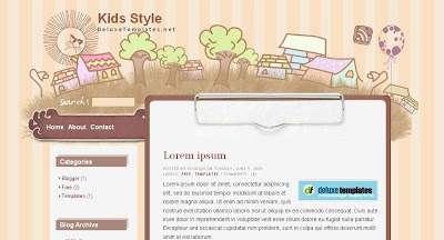 Kids+Style Visually Impressive and Smashing Blogger Templates