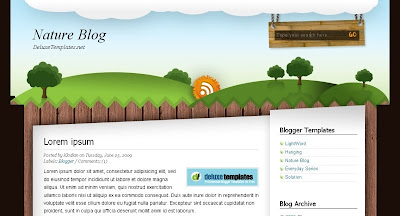 nature+blog Visually Impressive and Smashing Blogger Templates