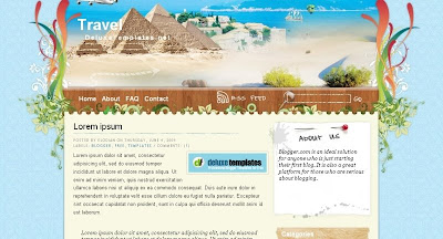 travel Visually Impressive and Smashing Blogger Templates