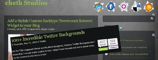retweet Add a Stylish Custom Backtype Tweetcount Retweet Widget to your Blog