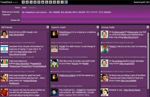violet Gorgeous TweetDeck Color Schemes