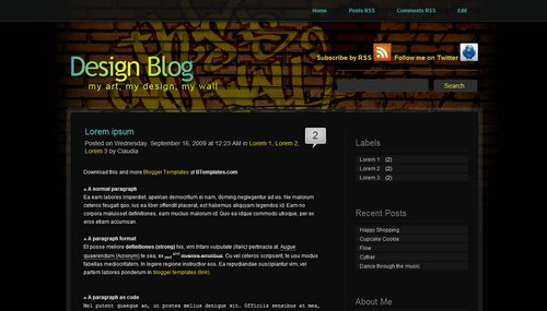Design Blog1 40+ New and Fresh Blogger Templates