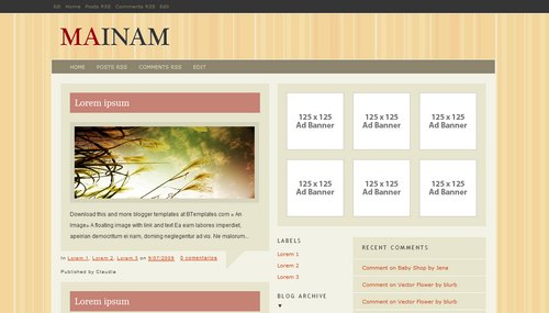Mainam 40+ New and Fresh Blogger Templates