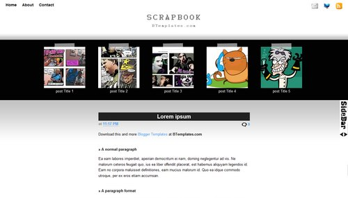 Scrapbook 40+ New and Fresh Blogger Templates