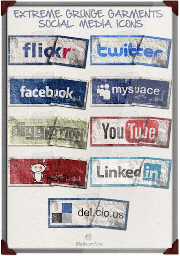 extreme+grunge+garment+social+icons Social Network Icons Reloaded
