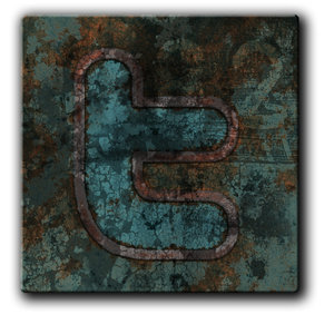 Twitter Metal Grunge Icon by ThrashATL Social Network Icons Reloaded