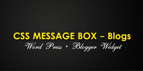 Css+meaage+box+for+wordpress+blogger+blogs HOW TO: Elegant CSS Message Boxes for Blogs