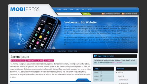 Mobipress Mindblowing Premium Like Free Blogger Templates