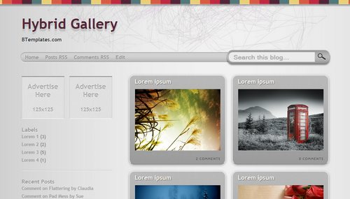 hybrid+gallery Mindblowing Premium Like Free Blogger Templates