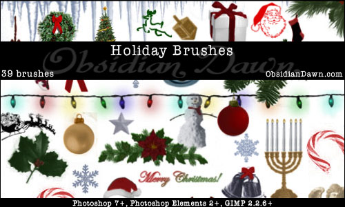 christmas+brushes+%284%29 Design + Christmas = oh my! Inspirational Resources!