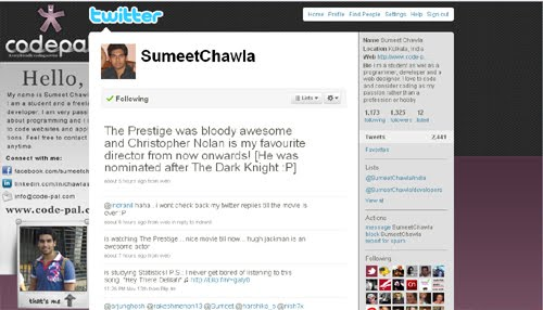 SumeetChawla Inspiration Reloaded!   44 Best Twitter Background Themes