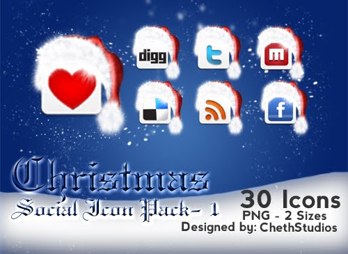 Christmas Special - Free Social Networking Icons - 1