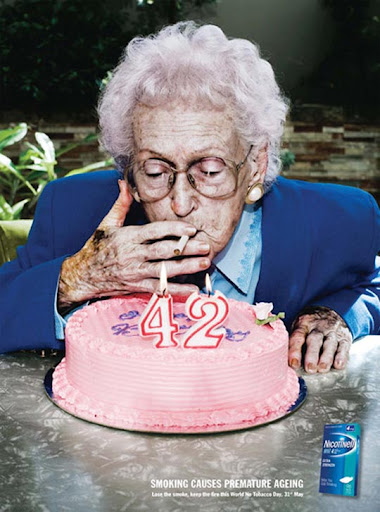 Smoking+Causes+Premature+Aging 65 Creative Anti Smoking Ad Campaigns Dedicated to World No Tobacco Day