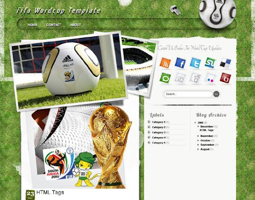 FIFA World Cup 2010 Blogger Template