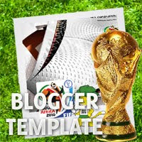 FIFA World Cup 2010 Blogger Template football