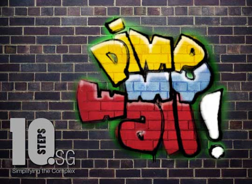 Paint+Graffiti+on+Wall+in+Photoshop Funky Graffiti Tutorials using Photoshop and Illustrator