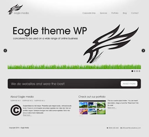 Eagle+Theme Fresh Premium Wordpress Themes Designed in 2010