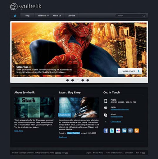 Synthetik Fresh Premium Wordpress Themes Designed in 2010
