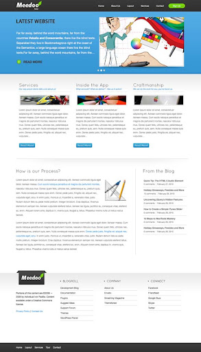 meedo Fresh Premium Wordpress Themes Designed in 2010