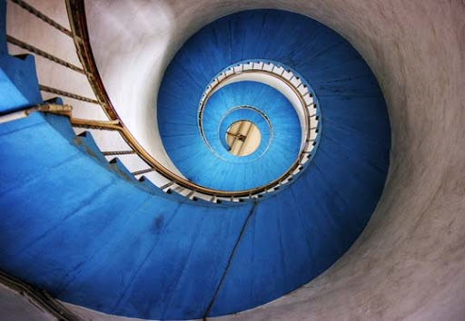 Blue Stairs by Initio Beautifully Blue: Color Photography Inspiration