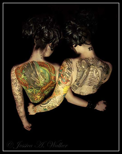 Siamese+Twins Incredible Tattoo Designs and Body Art to Inspire You