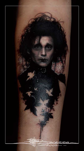 Tattoo Edward Scissorshands by jbecerra Incredible Tattoo Designs and Body Art to Inspire You