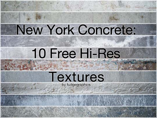 New York Concrete Textures by fudgegraphics 15+ Useful Concrete Texture Packs for Designers