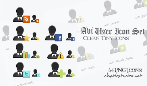 poster+user+web+icon+set Avi: A Clean Free User Icon Set For Designers and Bloggers