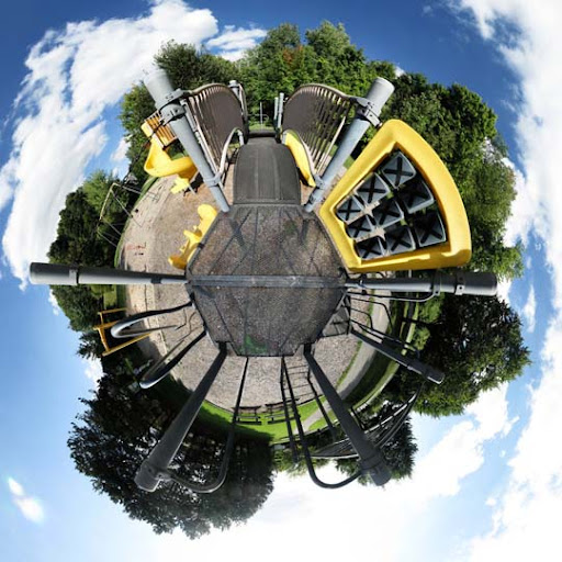 Mini Planet   The Playground by electricjonny Mesmerising Planet Panoramic Photography