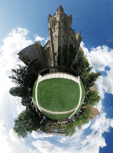 Mini Planet   U of M Law Tower by electricjonny Mesmerising Planet Panoramic Photography