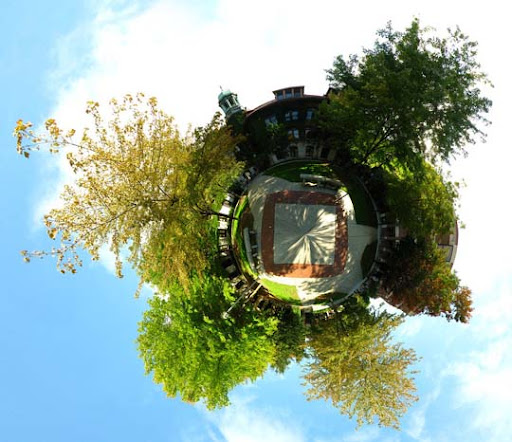 Mini Planet   Campus Square by electricjonny Mesmerising Planet Panoramic Photography