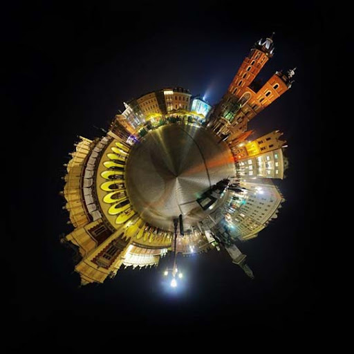 Cracow Planet by jeremi12 Mesmerising Planet Panoramic Photography