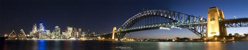 Panorama of Sydney Skyline I by IAMSORRY87 Stunning Horizontal Panoramic Shots | Photography Inspiration