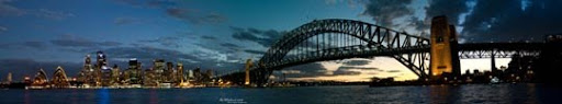 Panorama of Sydney Skyline III by IAMSORRY87 Stunning Horizontal Panoramic Shots | Photography Inspiration