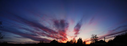 Panorama at sunset by littlebori Stunning Horizontal Panoramic Shots | Photography Inspiration