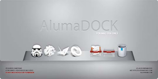 AlumaDOCK by art styles 30+ Fresh Dock Icons For Mac Customization