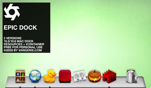 Epic Dock   Updated by vanGenie 30+ Fresh Dock Icons For Mac Customization