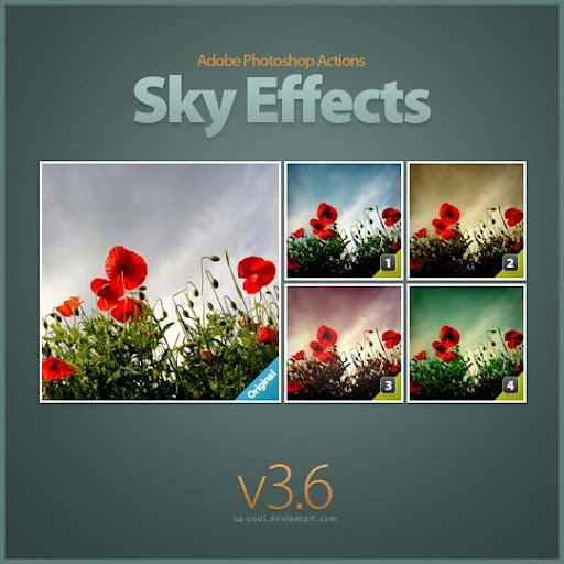 Sky Effects 3 6 by sa cool The Ultimate Collection Of 500+ Useful Free Photoshop Actions