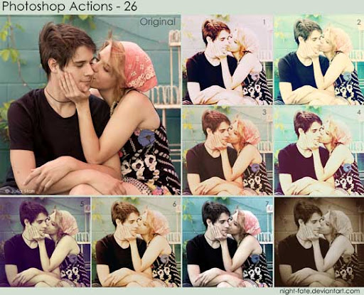 photoshop actions   26 by night fate The Ultimate Collection Of 500+ Useful Free Photoshop Actions
