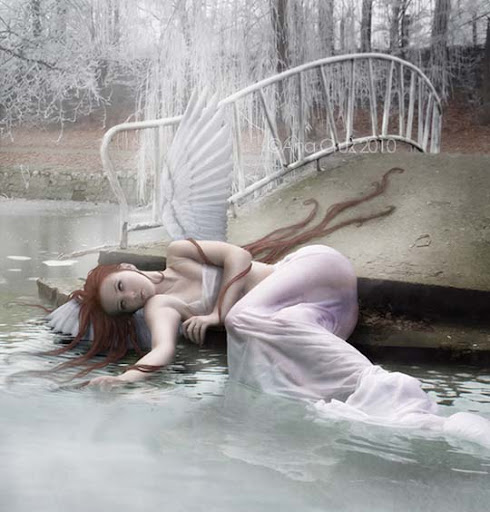 an+angels+demise 40 Examples of Emotional Female Photomanipulation Art