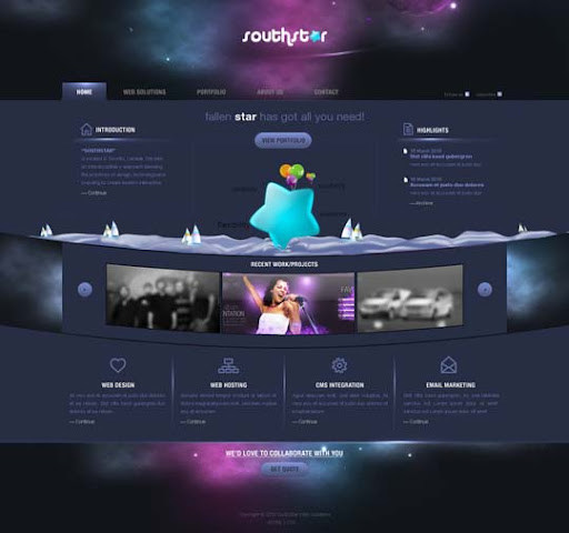 sstar web by zee7 40 Gorgeous Portfolio Web Interface Designs You Must See