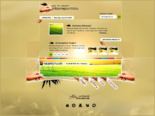 Airborne+Portfolio+Ex+by+%7ENikeos 40 Gorgeous Portfolio Web Interface Designs You Must See