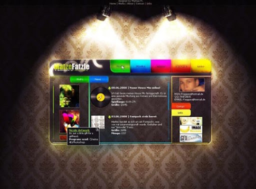 colorful+portfolio+p+by+%7EMatzeFatzle 40 Gorgeous Portfolio Web Interface Designs You Must See