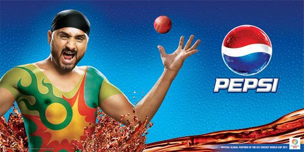 Harbhajan+Singh+Pepsi+World+Cup+Ad+Wallpaper Adidas and Pepsi Cricket World Cup 2011 Campaign Posters
