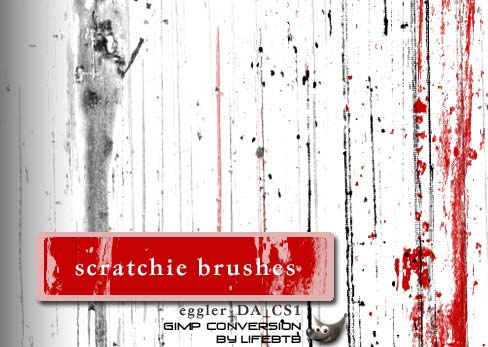 GIMP Scratchies by lifebtb 1500+ Free GIMP Brushes Packs for Download