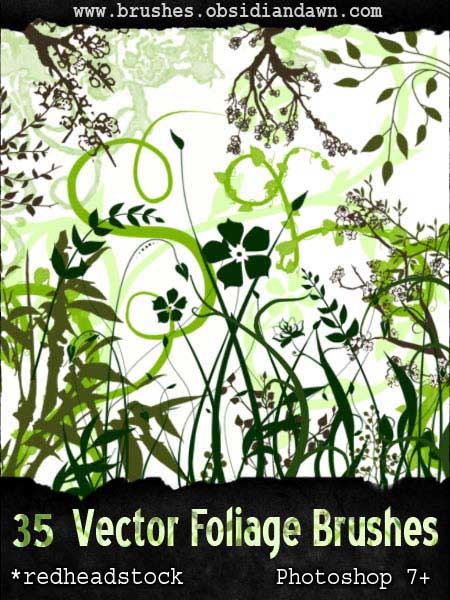GIMP Vector Foliage Plants by Project GimpBC 1500+ Free GIMP Brushes Packs for Download