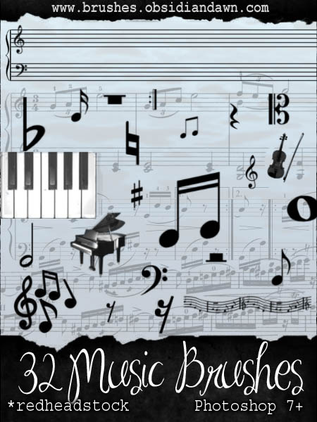 GIMP Music Brushes by Project GimpBC 1500+ Free GIMP Brushes Packs for Download