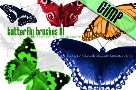 butterfly3 gimp brushes by hawksmont 1500+ Free GIMP Brushes Packs for Download