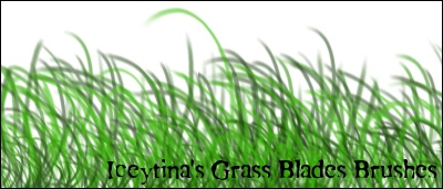 GIMP Grass Blades by iceytina 1500+ Free GIMP Brushes Packs for Download