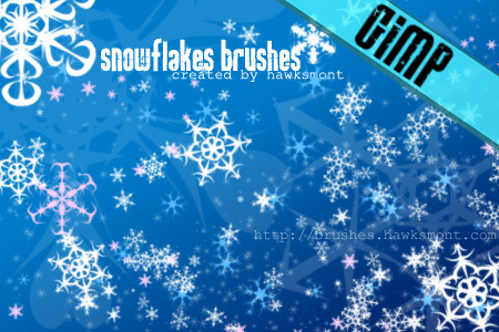 snowflakes gimp brushes by hawksmont 1500+ Free GIMP Brushes Packs for Download